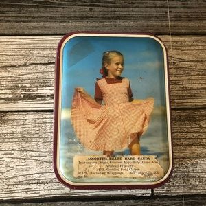 VTG 40s Girl in Ocean Hard Candy Tin